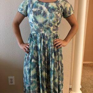 1950's watercolor dress